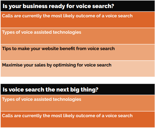 table about s voice search the next big thing