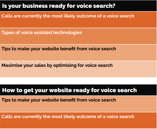 table about voice search