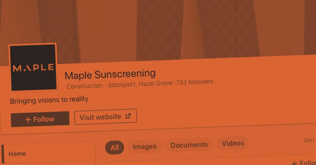 maple social media case study banner