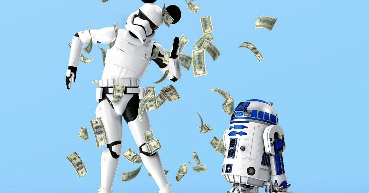 robots dancing with money