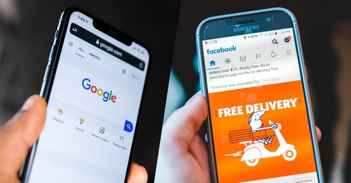 google search and facebook ads